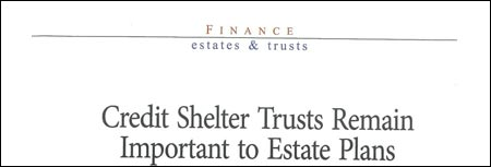 Finance estate & trusts